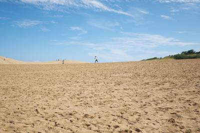 鳥取砂丘で砂まみれの旅