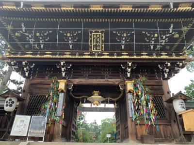 夏始まった?暑すぎた京都お散歩旅。北野天満宮から平野神社編。