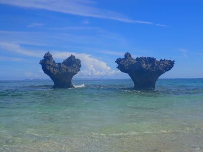 夏!!沖縄 古宇利島 トケイ浜・ティーヌ浜で泳ぎました。