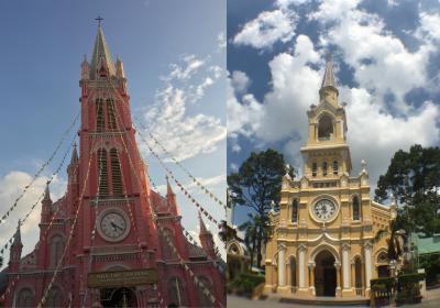 ホーチミン ピンクと黄色の教会 ホーチミン誕生祭 毎日スパ アマゾンで買った280円のベトナムSIM