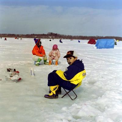 2001年姉沼氷上ワカサギ釣り