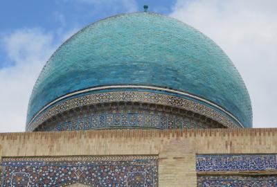 2019春、ウズベキスタン等の旅(35/52):4月26日(7):ブハラ(6):カラーンモスク(1):イーワーン