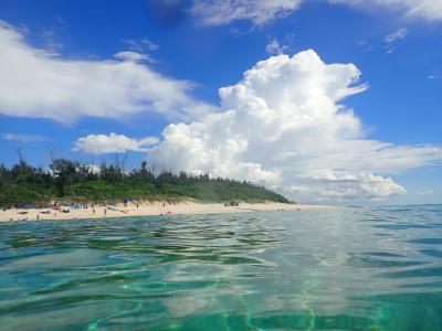 夏!!沖縄 瀬底島 瀬底ビーチでシュノーケリングしました。