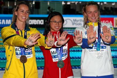 20回目の韓国は光州で2019水泳世界選手権観戦!~(6)夕方は、競泳大会2日目の決勝を観戦!