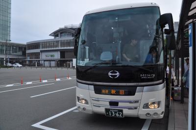 2019年7月秋田鉄道旅行1(仕事を終えて羽田経由で秋田へ向かう)