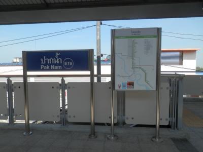 2BTS東に延びた駅まずは終点のケーハまで行きパクナムで途中下車
