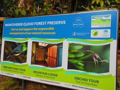 モンテベルデ自然保護区のトレイル、アレナル火山、タバコン温泉