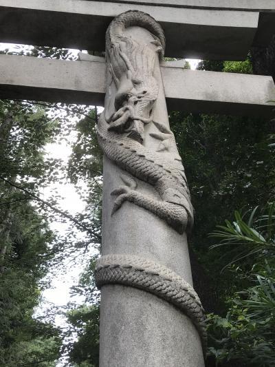 夏空の下、「東京三鳥居」などを巡りました