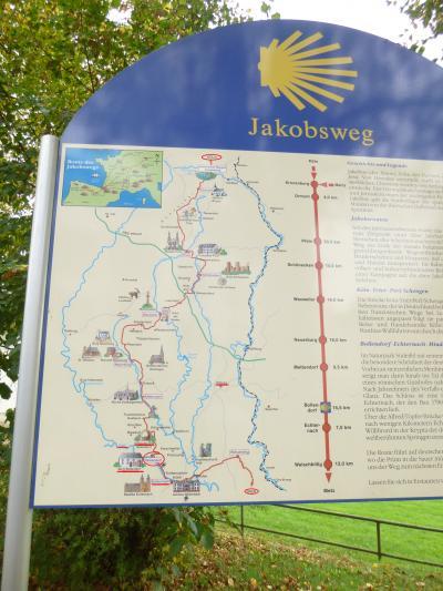 2013年秋のドイツ15:病み上がりの身には130kmの距離にある国境のボレンドルフ城も遠い。