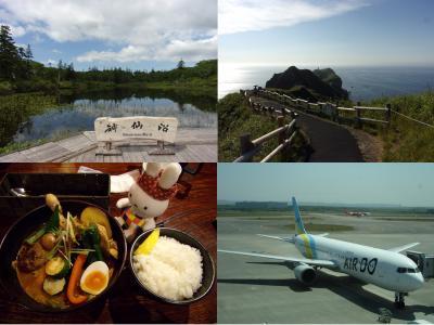 ちょっと早めの夏休み 北海道ドライブ旅行 後編 ハスラーでGo!大湯沼、神仙沼、神威岬へ & 札幌のグルメ探訪と帰りのAIR DO搭乗記