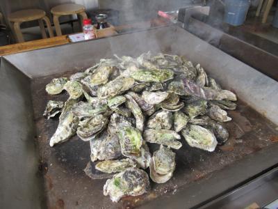 松島でお腹いっぱい焼き牡蠣食べ放題
