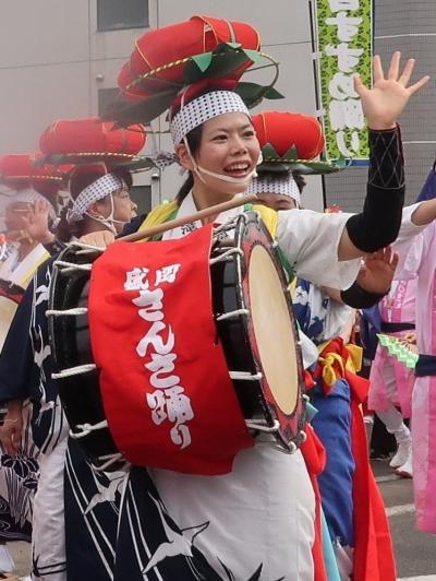 東北絆まつり/福島16  復路 パレード(前半) 混成で ☆6県参加者和気あいあいと