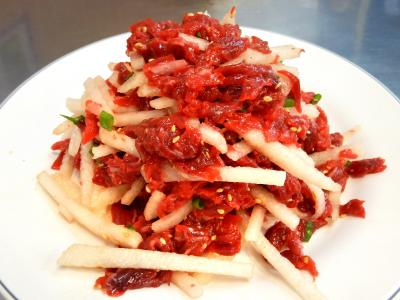 ソウル1泊家族旅行:肉市場vs魚市場!