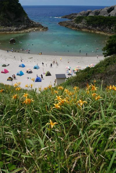 ビーチでシュノーケル&温泉の島、ほのぼの式根島ツアー