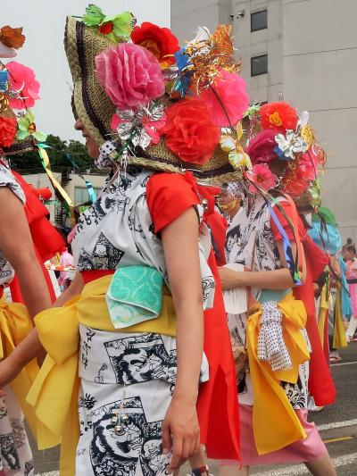 東北絆まつり/福島17 復路 パレード(後半) 交歓し ☆来場者2日間で30万人以上に