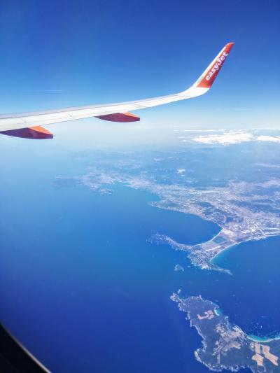 ニースからバルセロナ空の旅
