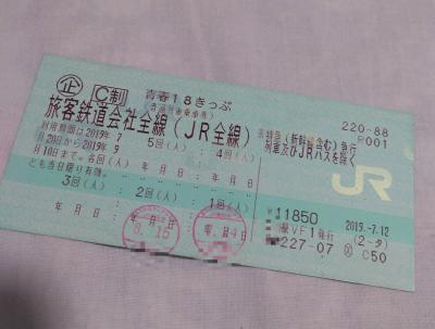 【青春18きっぷ】那須日帰り旅①