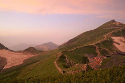白馬岳・栂池ルート テント泊登山(東京から夜行バス)