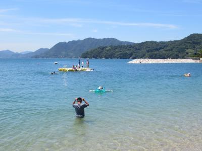 しまなみ海道で海水浴して今治グルメ
