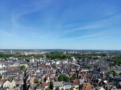 ブールジュ大聖堂の塔のてっぺんから 北はパリ 南はカルカソンヌまで見えた♪2019年5月フランス ロワール地域他8泊10日(個人旅行)135