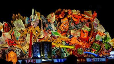 往復飛行機で行く東北二大祭り(10) ねぶた祭りの見学 上巻。