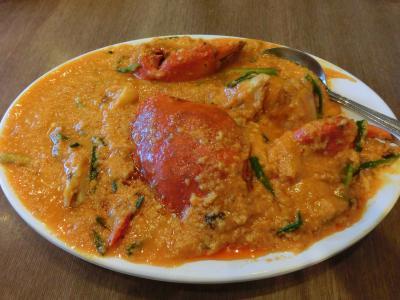 プーパッポンカリー(蟹のカレー炒め)を堪能、ラウンジを4か所ハシゴし、タイ国際航空のビジネスクラスで帰国