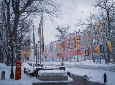 秋田冬旅03 : 100年経っても今なお残る明治の木造芝居小屋 康楽館でまさかの仮装