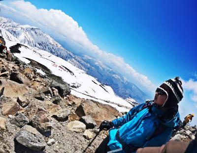 雪山Girlは大食乙女♪マイナス10℃の白い刃へ【2019.GW 能登・家族旅-1(白山 Snow Trek)】