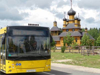 2019年ベラルーシとモスクワ旅行(6)移動編:ベラルーシのバスの旅~バスターミナル散策と40km離れた民芸品村ドゥドゥトキヘ