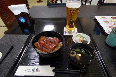 ぬまづ港の街BAR(バル)その4 うなぎ処京丸の鰻丼 鮨庵さいとうの握り寿司 たこ焼屋サボちゃんのたこ焼き