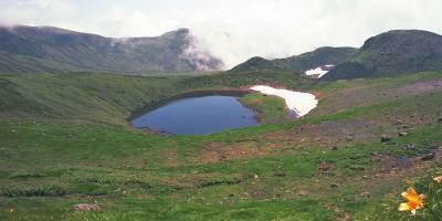 カルデラ湖・鳥海湖を見に