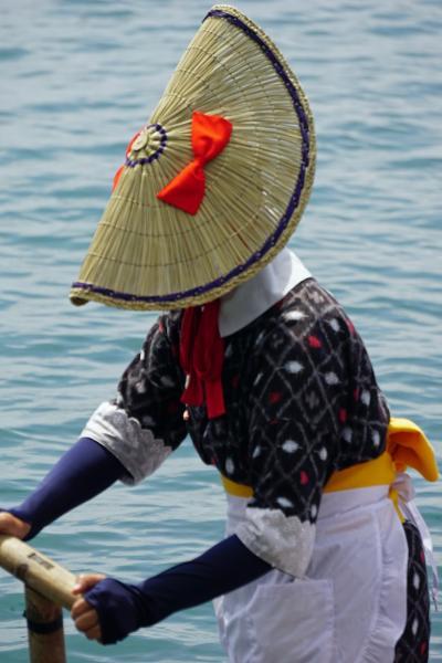初めての佐渡島(2) 佐渡グランドホテルから「たらい舟」体験と「宿根木」散策、午後は「長谷寺」を参拝してホテルでくつろぐ。