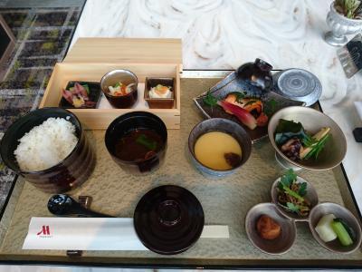 名古屋駅真上のマリオットアソシアホテル初お泊り③ラウンジ朝食1回目 和朝食
