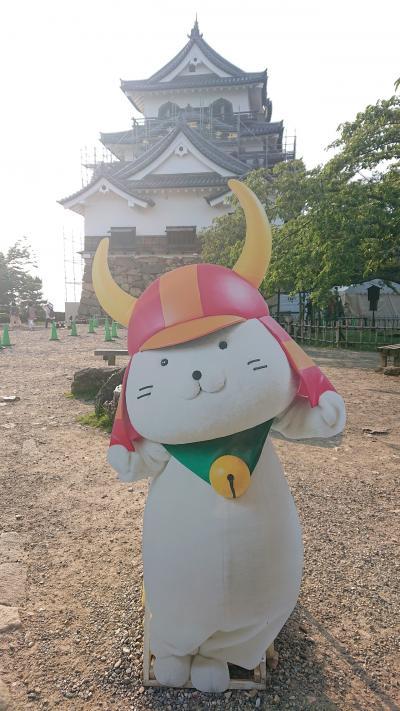 琵琶湖を一望できる彦根城