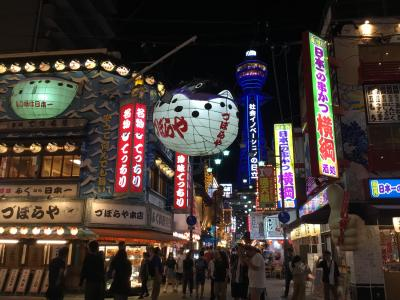 真夏の道頓堀と夜の新世界&猫カフェ(=^ェ^=) 大阪の街から韓国人がいなくなった!?