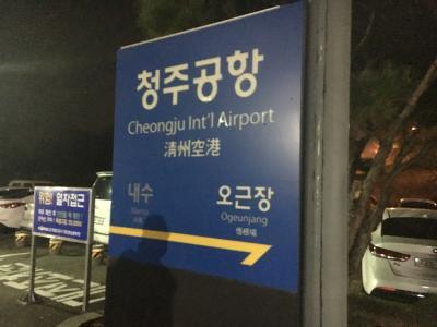 2018年12月 清州空港から大田、ソウル、仁川へ