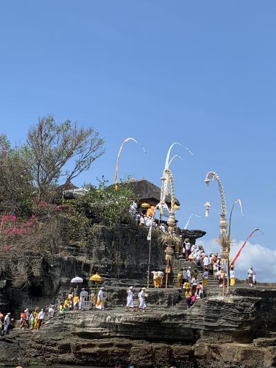 いつもと違うタナロット寺院の風景