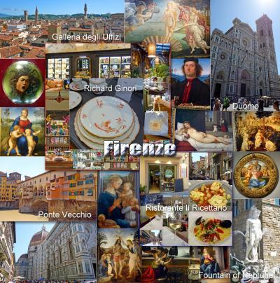 トスカーナ街巡り+ローマ 2 -フレンツェ観光、ランチはRistorante Il Ricettarioでトスカーナ料理-