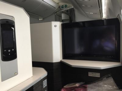 羽田~ロンドン JAL SKY SUITE ビジネスクラス JAL43 B777、 JAL42 B787
