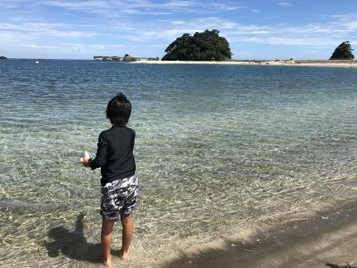 家族旅行 日帰り2019年8月(長男10歳、次男8歳)IN 若狭若宮海岸