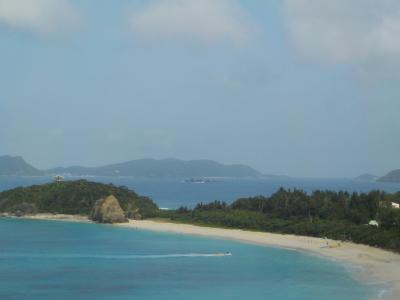 1年ぶりの渡嘉敷島。台風9号の影響でシュノーケルは出来なかったけど。