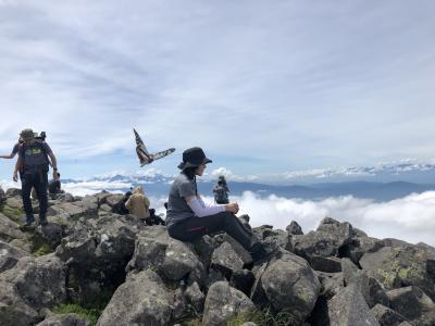 蓼科山に登りました!