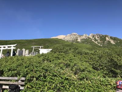 山の日に▲御嶽山(3067m):頂上解禁、生々しい光景を目に
