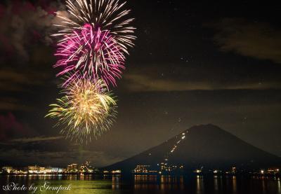 山中湖ロッジ滞在記8月編 その1 報湖祭、湖上祭 2つの花火大会