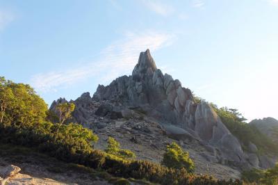 鳳凰三山  地蔵ヶ岳(2,750m) 観音ヶ岳(2,840.7m) 薬師ヶ岳(2,780m) 第二日