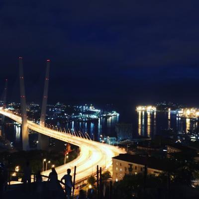 ウラジオストクの夜景 & 夜散歩
