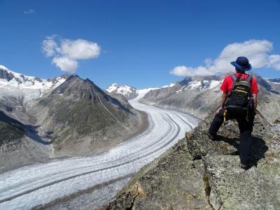 スイスアルプス2018夏:08/16 午前は移動、午後から岩場を攻めてアレッチ氷河を楽しむ