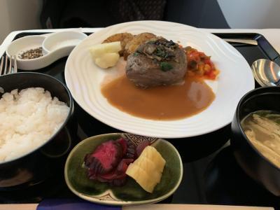 2019 8月バンコクにも家ができました31 7  ANAビジネクラス羽田―バンコク往復 美味しい洋食とご飯セット