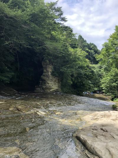 【2019お盆】息子達と散策。養老渓谷滝めぐりとチバニアン