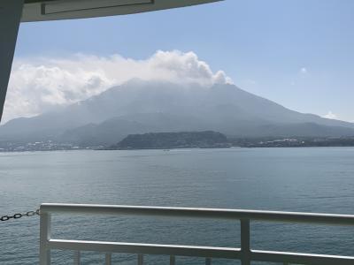 桜島の雄大さを見てきました